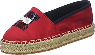 Tommy Hilfiger Damen Corporate Slip on Espadrille, Rot (Tango Red 611), 38 EU