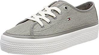 Hilfiger Denim Tommy Jeans Star Sneaker, Zapatillas para Mujer, Gris (Light Grey 004), 37 EU
