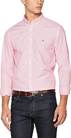Devan CHK NFH5, Camisa para Hombre, Azul (Magenta Purple/Classic White), 37 cm (Talla del Fabricante: Small) Tommy Hilfiger