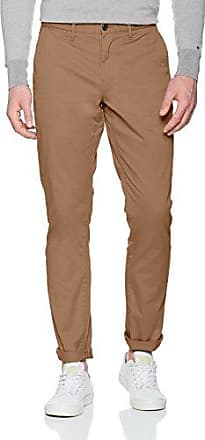 Denton Chino Org Str Twill, Pantalones para Hombre, Marrón (Monks Robe 214), W38/L34 Tommy Hilfiger
