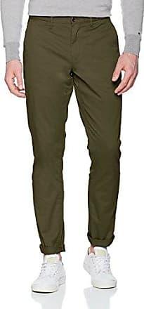 Denton Chino Org Str Twill, Pantalones para Hombre, Verde (Deep Depths 321), W34/L30 Tommy Hilfiger