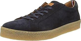 Tommy Hilfiger Technical Material Mix Sneaker, Zapatillas para Hombre, Azul (Monaco Blue 408), 42 EU