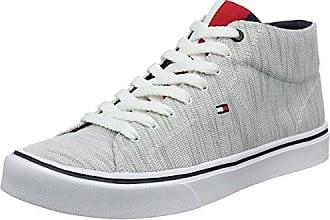 Tommy Hilfiger Lightweight Knit Mid Cut Sneaker, Scarpe da Ginnastica Basse Uomo, Blu (Midnight 403), 43 EU