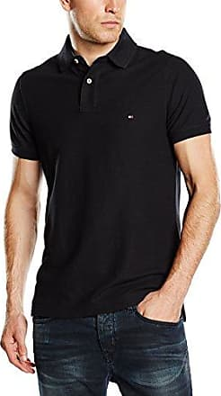 Tommy Hilfiger 867878433060 - Polo - Uni - Manches Courtes - Homme - Noir (New Black) - Medium (Taille Fabricant: M) es8vSpmY9