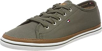 Mixed Material Lifestyle Sneaker, Zapatillas para Mujer, Verde (Dusty Olive 011), 40 EU Tommy Hilfiger