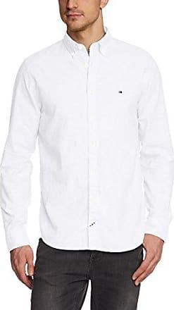 80S Two Ply Poplin NFC1, Camisa para Hombre, Blanco (Classic White), 37 cm (Talla del Fabricante: Small) Tommy Hilfiger