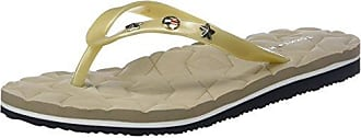 Metallic Star Beach Sandal, Chanclas para Mujer, Dorado (Light Gold 708), 38 EU Tommy Hilfiger