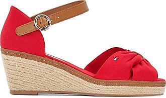 Sandales à talon compensé ELENA, Rouge/Taupe