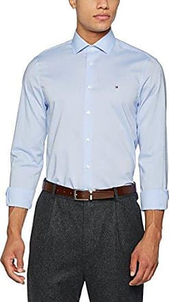 Tailored Oxford Classic Shirt S/s, Camisa para Hombre, Azul (410 410), Medium (Talla del Fabricante: 40) Tommy Hilfiger