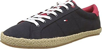 Iconic Long Lace Sneaker, Sneakers Basses Homme, Bleu (Halogen Blue 425), 43 EUTommy Hilfiger