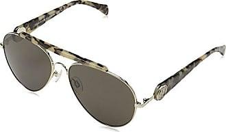 Tommy Hilfiger Damen Sonnenbrille TH Gigi NR P7Z, Gold (Gold Havana/Brw Grey), 58