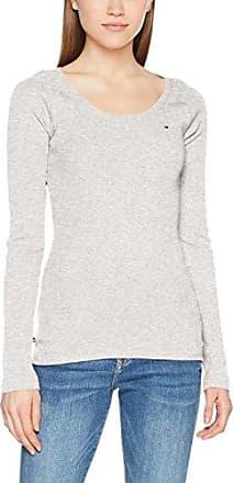 Tommy Jeans Tjw Logo V-Neck tee, Camiseta sin Mangas para Mujer, Gris (Light Grey Htr Bc03 000), Small