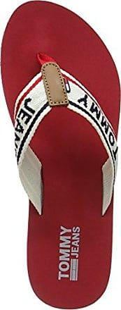 Hilfiger Denim Damen Love TJ Beach Sandal Zehentrenner, Rot (Tango Red 611), 37 EU