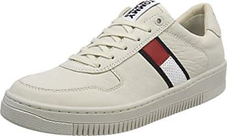 Hilfiger Denim Tommy Jeans Suede Sneaker, Scarpe da Ginnastica Basse Uomo, Bianco (Ice 101), 41 EU