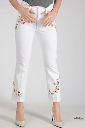 19cm Embroidered Stretch Denim Jeans Größe 27 Tory Burch