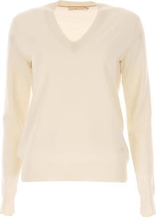 Sweater for Women Jumper On Sale, Ivory, Wool, 2017, 10 6 8 Tory Burch