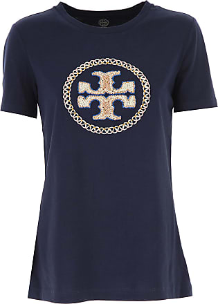 T-Shirt for Women On Sale, White, Cotton, 2017, 10 12 14 6 8 Tory Burch