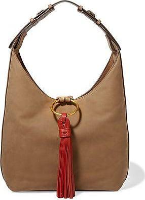 Tory Burch Woman Laser-cut Leather Shoulder Bag Mushroom Size Tory Burch bFEJW0W3w