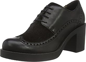 Waldläufer Hiroko, Zapatos de Cordones Derby para Mujer, Negro (Namib Denver Namib Slack Schwarz 001), 37.5 EU