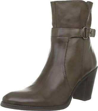 Dkode Cassia - Botas de cuero mujer, color negro, talla 8 UK, 42 EU