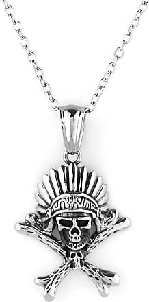 Silver-Toned Skull & Bones Necklace Trendhim Aomxr1rE3s