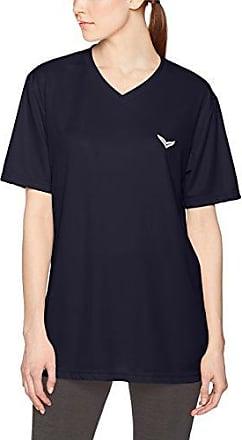 Trigema V-Shirt Coolmax, Camisetas de Deporte para Mujer, Azul (Navy 046), L