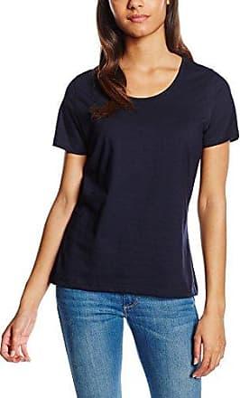 Trigema Damen T-Shirt 100% Biobaumwolle-Camiseta Mujer, Azul (Navy C2C 546), 36