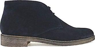 TRIVER FLIGHT Desert Boots Damen Wildleder (35 EU, Blau)