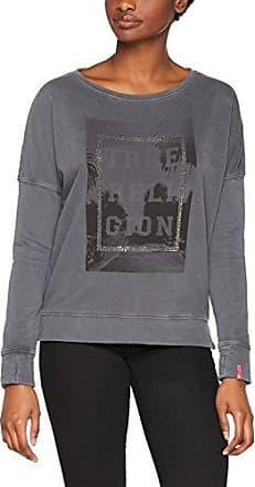 True Religion Oversized Crew Rhinestones Palms, Sweat-Shirt Femme, (Black 1001), 42 (Taille Fabricant: L)