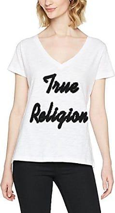 True Religion T-Shirt True 1, Camiseta para Mujer, Rosa (Pink 6858), 38 (Talla del Fabricante: S)