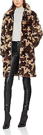 True Religion Faux Fur Coat Green Camouflage, Manteau Femme, (Green Camouflage 3443), 42 (Taille Fabricant: L)