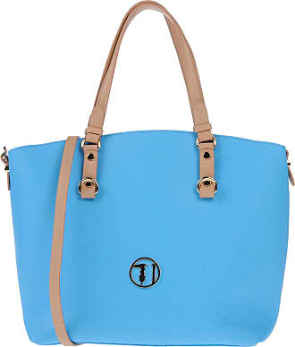 Ischia Ecoleather Tote Medium Bag, Womens Top-Handle Blue (Blue Green), 35x40x16 cm (W x H L) Trussardi