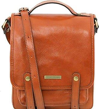 81412074-KL - TUSCANY LEATHER: TL KEYLUCK - Schultertasche aus Leder, Cognac Tuscany Leather