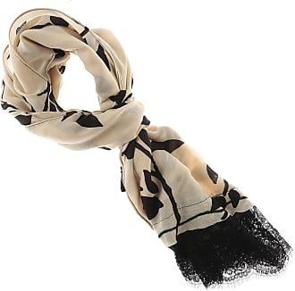 Scarf for Women On Sale, Black, polyester, 2017, Universal Size Twin-Set