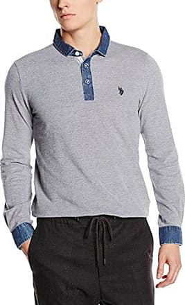 U.S. Polo Assn. - Eddie, Polo para Hombre, Azul (BLU (177)), M U.S.Polo Association