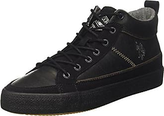 U.S.Polo ASSN. Tebio, Zapatillas para Hombre, Negro (Black BLK), 45 EU U.S.Polo Association