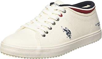 U.S.Polo ASSN. Terry, Zapatillas para Mujer, Blanco (White WHI), 38 EU