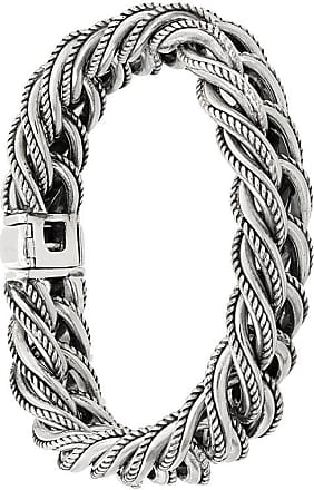 Ugo Cacciatori rope embossed bracelet - Metallic MJZ1jUl