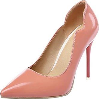 SHOWHOW Damen Elegant Low Top Spitz Zehe High Heels Pumps Rosarot 37 EU Tw4XOk