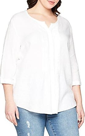 Elvi The Chyse Puffball Sleeve Top IN Linen Mix, Blusa para Mujer, Blanco (White 001), 48