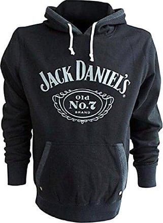 Jack DanielS MenS Old No. 7 Brand Logo Full Length Zipper Hoodie Grey, Sudadera con Capucha para Hombre, Gris, Medium Meroncourt