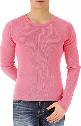 Sweater for Men Jumper On Sale, Pink, merino wool, 2017, L S Unconditional