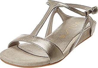 Codeo_Se, Sandales Bout Ouvert Femme, Argent (Steel), 36 EUUnisa