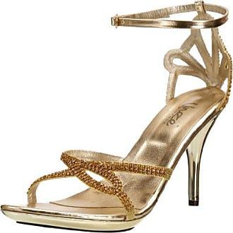 Evening Sandals L18216W - Sandalias para mujer, color dorado, talla 36 Unze