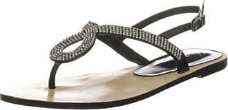 Unze Evening Sandals, Sandali donna, Nero (Schwarz (L18518W)), 39