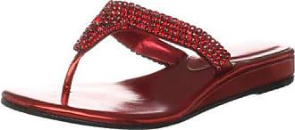 Unze Evening Slippers, Sandali donna, Rosso (Rot (L18330W)), 38