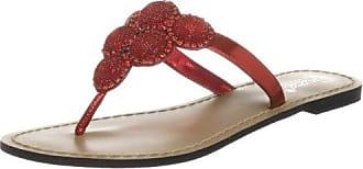 Unze L18410W, Chaussures basses femme - Rouge (L18410W), 36 EUUnze