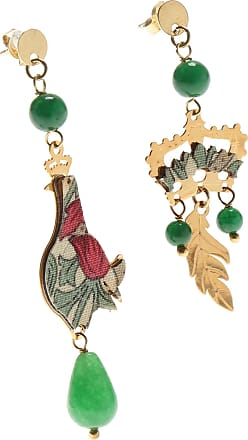 Earrings for Women, Lilac, Silk, 2017, One Size Uomolebole