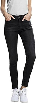 Urban Classics Ladies Ripped Denim Pants, Jeans para Mujer, Negro (Black Washed), 30W x 32L