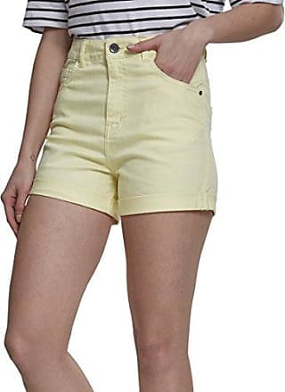 Ladies Space Dye Hotpants, Short Femme, Mehrfarbig (Wht/Blk/Wht 863), 44(Taille Fabricant: X-Large)Urban Classics
